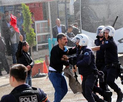 Tahliye kararını protesto eden esnafa polis müdahale etti