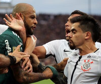 Felipe Melo yine şaşırtmadı: Kavga, kırmızı kart...