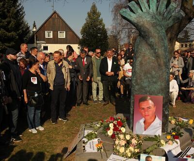 Almanya'da öldürülen Burak Bektaş için anıt