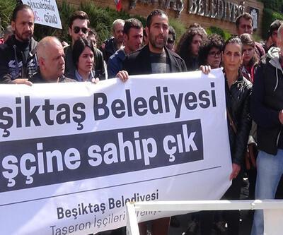 Beşiktaş Belediyesi'nde eylem
