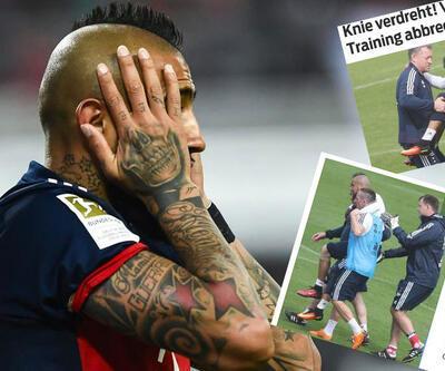 Bayern'de Arturo Vidal antrenmanı böyle terk etti