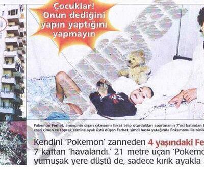 ''Ben Pokemon'um'' deyip camdan atlamıştı: İşte son hali...