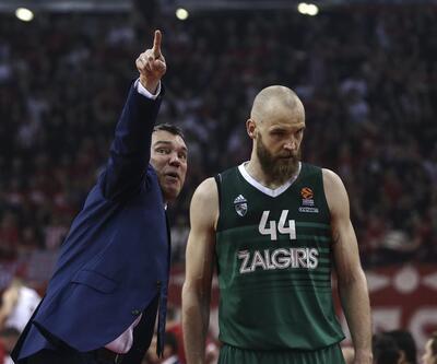 Olympiakos evinde baskına uğradı (Olymipakos 78-87 Zalgiris)