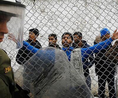 Midilli'de göçmenlere saldırı! Sloganları kan dondurdu