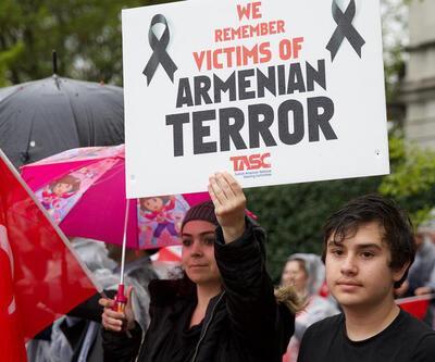 """Washington'da """"Ermeni iddialarına"""" karşı protesto"""