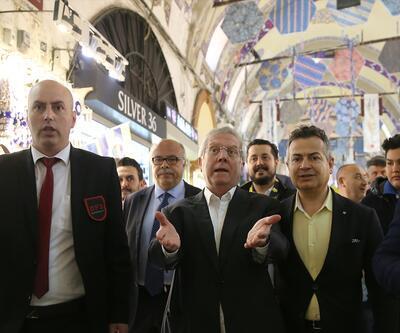 Aziz Yıldırım'ın Kapalıçarşı ziyaretinde esnaf tepkisi