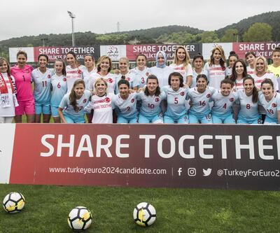 Kadın milliler ve ünlü isimler 2024 Avrupa Futbol Şampiyonası için sahadaydı