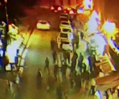 Mardin'de polisin darbedilmesi MOBESE kamerasına yansıdı