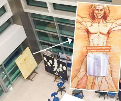 Üniversitede Leonardo da Vinci'nin eserine sansür
