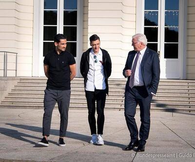 Mesut Özil ve İlkay Gündoğan Almanya Cumhurbaşkanı'nı ziyaret etti