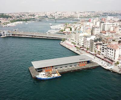İşte havadan fotoğraflarıyla yeni Karaköy İskelesi