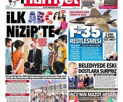 26 Mayıs 2018 - Gazetelerin birinci sayfaları