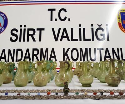 Siirt'te 4 bin yıllık şişeler ele geçirildi