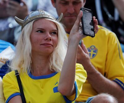 İsveç-Güney Kore maçından güzel görüntüler