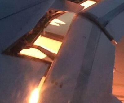 Suudi Arabistan uçağında yangın paniği