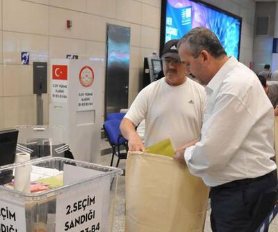 Atatürk Havalimanı'nda seçim sonuçları