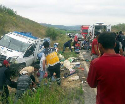 Tarım işçileri kaza yaptı: Çok sayıda yaralı var