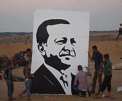 Gazze'li ressamdan Erdoğan portresi