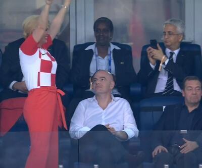 Hırvatistan Cumhurbaşkanı Kitarovic soluğu soyunma odasında aldı