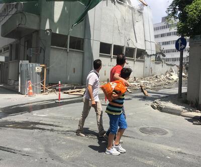Şişli'de yarım yamalak önlemlerle tehlikeli yıkım