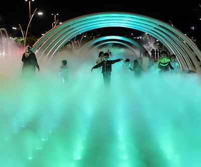 İstanbul'da sıcaktan bunalanlar Sis Parkı'na gidiyor