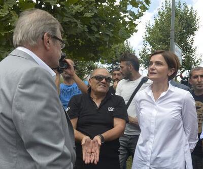 CHP'li Kaftancıoğlu Sütlüce'de çöken binanın sakinleri ile görüştü