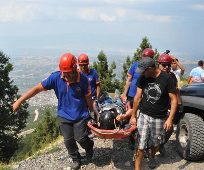 75 yaşındaki paraşütçünün mucize kurtuluşu