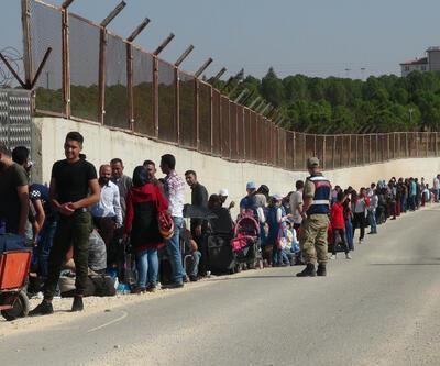 Sınır kapısında bayram ziyareti yoğunluğu