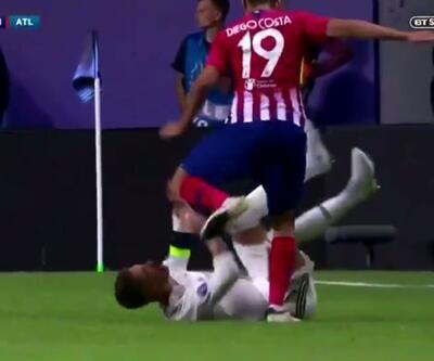 Diego Costa, Sergio Ramos'un kafasına vurdu