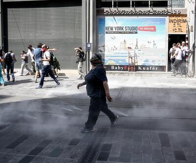 Taksim'de polis müdahalesi, çok sayıda gözaltı var