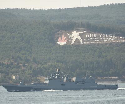Rus askeri gemileri Çanakkale Boğazı'nda