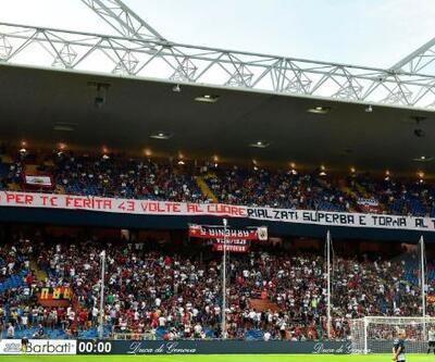 Genoa taraftarı ilk 43 dakika sessizce bekledi