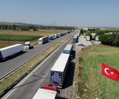 Kapıkule'de TIR kuyruğu 14 kilometreye ulaştı