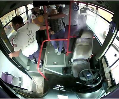 Otobüs şoförü, sara nöbeti geçiren yolcuyu hastaneye yetiştirdi