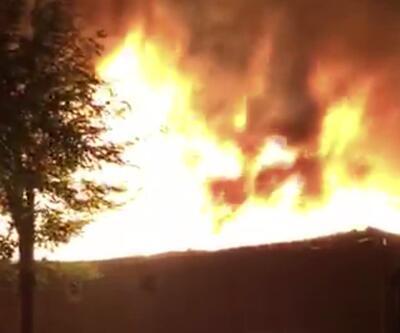 Kocasinan'da atık kağıt deposunda yangın