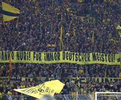 Dortmund taraftarından Nuri Şahin için dev pankart