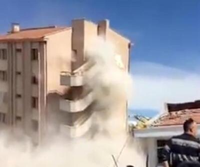 Eski devlet hastanesi böyle yıkıldı