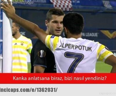 Dinamo Zagreb - Fenerbahçe maçı caps'leri