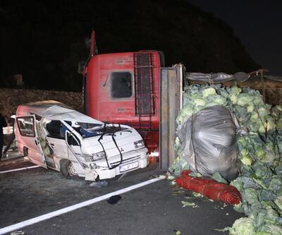 Anadolu Otoyolu'nda feci kaza