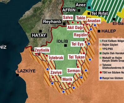 İşte İdlib'teki terör unsurları