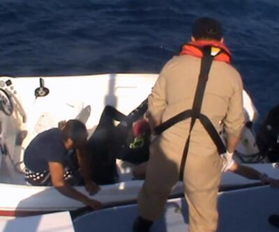 Kuşadası açıklarında 46 göçmen ölümden döndü