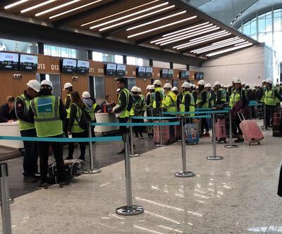 Üçüncü havalimanında yolcu testi gerçekleştirildi