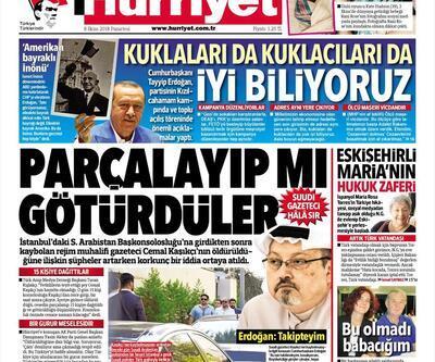 8 Ekim 2018 - Gazetelerin birinci sayfaları