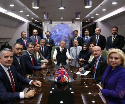 Cumhurbaşkanı Erdoğan Macaristan dönüşü gazetecilerin sorularını yanıtladı