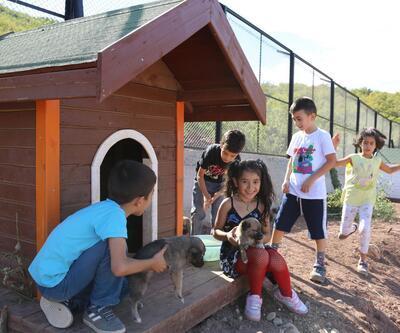 Minik öğrencilerden koruma altındaki hayvanlara yakın ilgi
