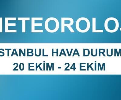 İstanbul hava durumu beş günlük verileri | Meteoroloji son dakika hava durumu