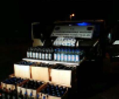 Kaçak içki ve sigarayla yakalanan 2 kişiye 39 bin lira ceza