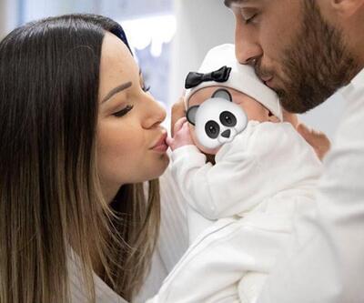 Cenk ve Ece Tosun çiftinin bebekleriyle ilk pozu
