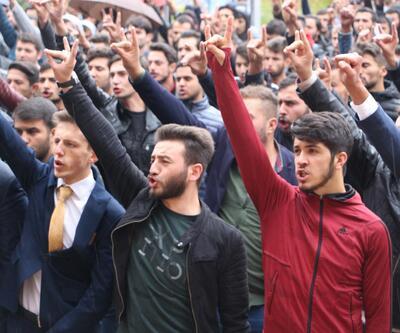 Tokat'ta üniversite öğrencilerinden 'andımız' eylemi