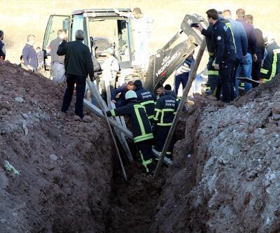Okul inşaatında toprak kayması